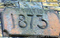 Engine-house - west wing date stone