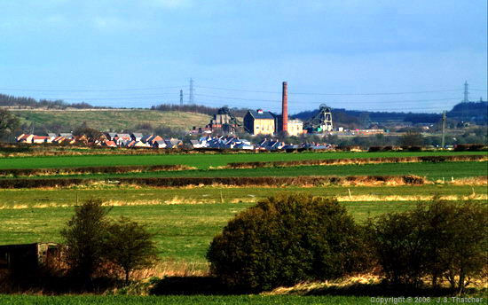 Pleasley Colliery from the south